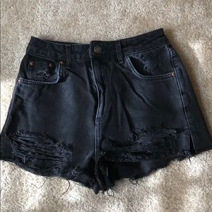 TopShop Moto Mom jean shorts US Size 4